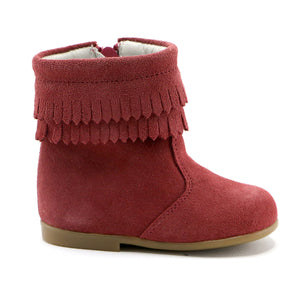 Rosewood soft suede tassel infant and  girls boot (SS-7088)