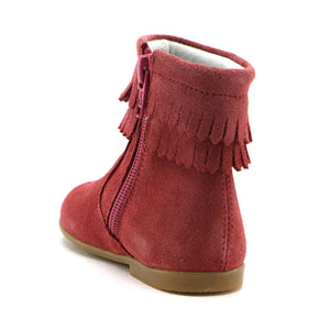 Rosewood soft suede tassel infant and  girls boot (SS-7088) - SIMPLY SHOES HONG KONG