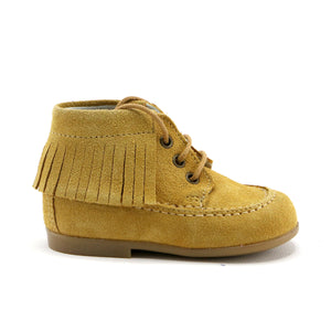 Mustard playful classic girls boots (SS-7091) - SIMPLY SHOES HONG KONG