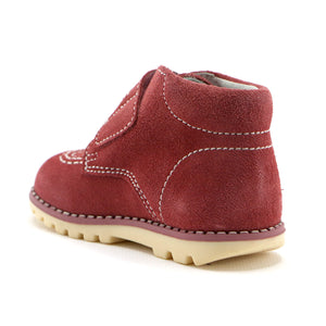 Red soft suede girls ankle boot (SS-7093) - SIMPLY SHOES HONG KONG