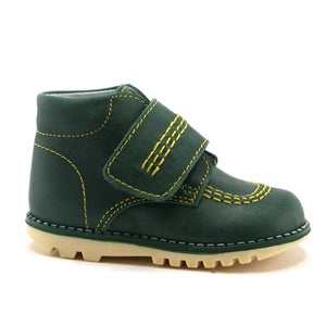 Hunter Green leather Ankle Boots (SS-7095) - SIMPLY SHOES HONG KONG