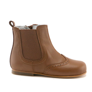 Caramel leather Chelsea boot (SS-7097)