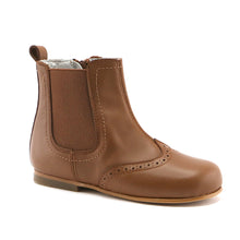 Caramel leather Chelsea boot (SS-7097) - SIMPLY SHOES HONG KONG