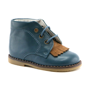 Ocean Combo premium Leather Ankle Boot (SS-8033)