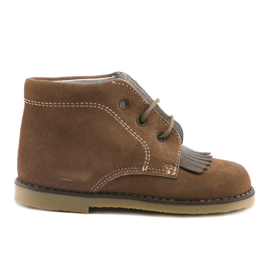 Peanut suede Boys Ankle Boots (SS-8036) - Simply Shoes Hong Kong