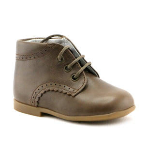 Wood leather  Ankle Booties (SS-8037)