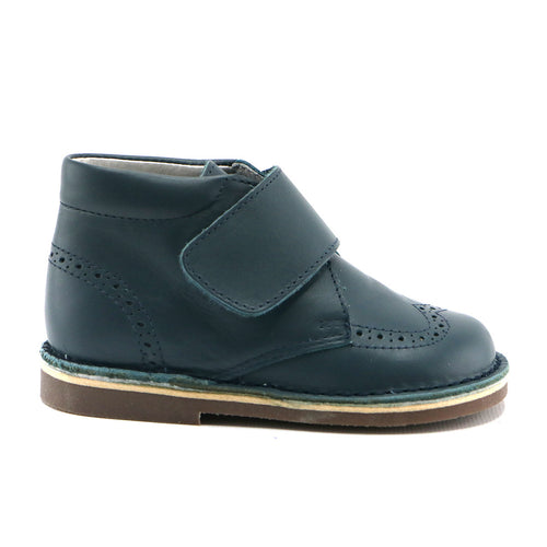 Turquoise premium leather with velcro Ankle Boots (SS-8042) - SIMPLY SHOES HONG KONG