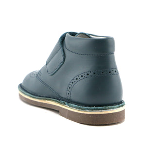 Turquoise premium leather with velcro Ankle Boots (SS-8042)