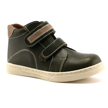 Mocha combo leather Boys outdoor Ankle Boots (SS-8045)