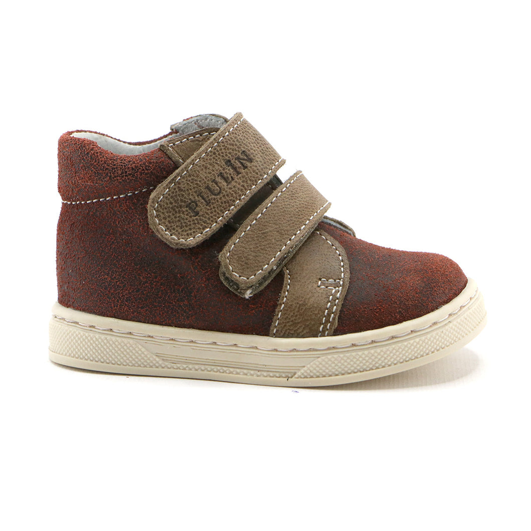 Syrup  combo leather double strap Boys Ankle Boots (SS-8048)