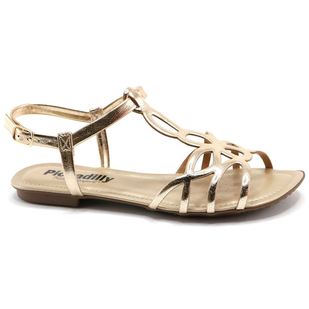 Gold Sandals for Women (573.002) - SIMPLY SHOES HONG KONG