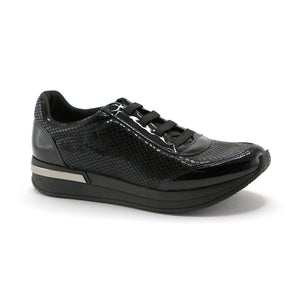 Black Sneakers for Women (973.007) - SIMPLY SHOES HONG KONG