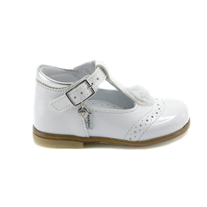 White leather Mary Jane (SS-7098) - SIMPLY SHOES HONG KONG