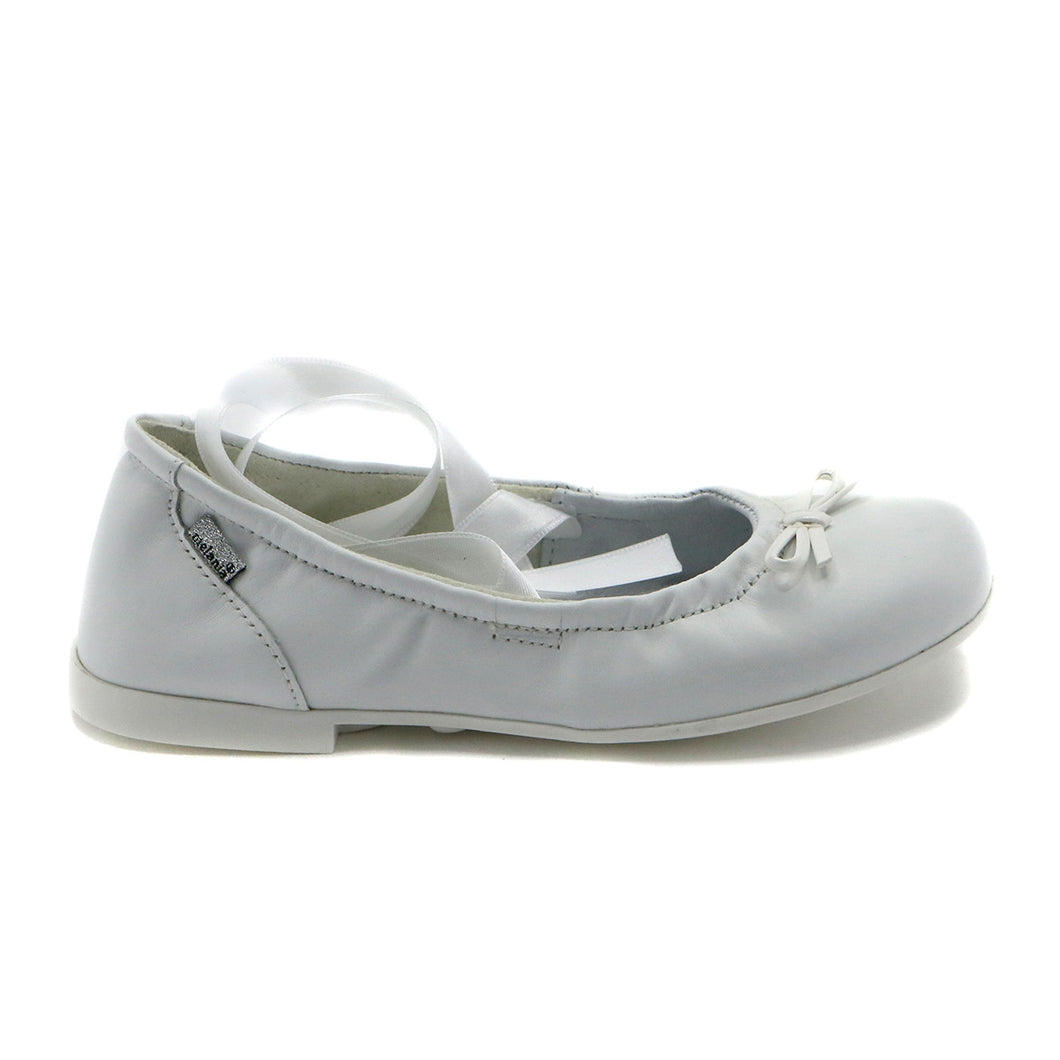 White Leather Girls Mary Jane (SS-7100) - SIMPLY SHOES HONG KONG
