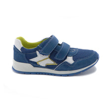 Blue Leather Sneakers (SS-7102)