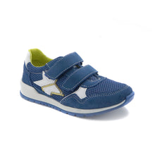 Blue Leather Sneakers (SS-7102) - SIMPLY SHOES HONG KONG