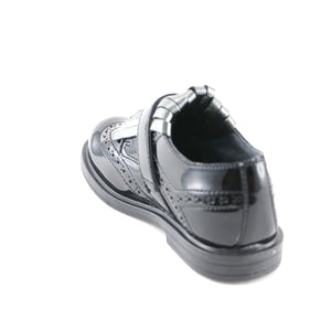 Black leather girls tassel shoes (SS-7118) - SIMPLY SHOES HONG KONG