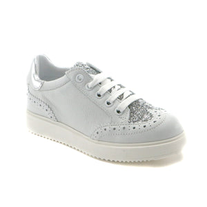 White Leather Girls Sneakers (SS-7103) - SIMPLY SHOES HONG KONG