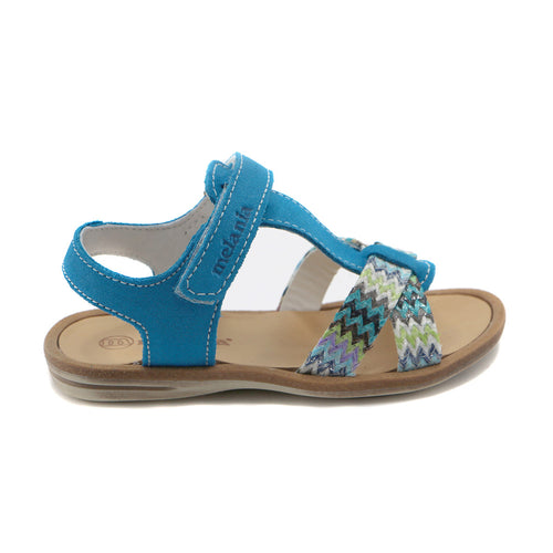 Blue leather Girls Sandals (SS-7104) - SIMPLY SHOES HONG KONG