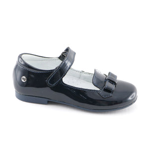 Dark Blue Girls leather ballerina (SS-7120)