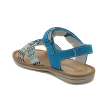 Blue leather Girls Sandals (SS-7104)