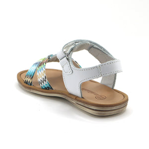 White Leather Girls Sandals (SS-7105) - SIMPLY SHOES HONG KONG