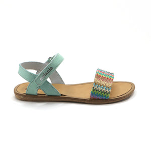 Aqua Leather Girls Sandals (SS-7107) - SIMPLY SHOES HONG KONG