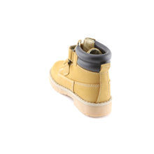 Camel Leather Ankle Boots (SS-7123)