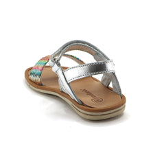 Silver Leather Girls Sandals (SS-7108)