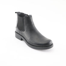 Black Leather Girls Ankle Boots (SS-7125) - SIMPLY SHOES HONG KONG