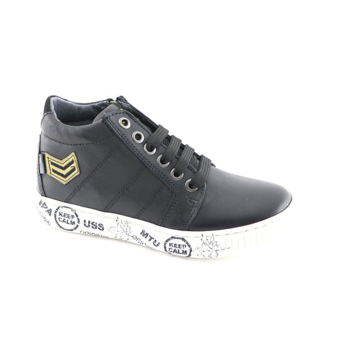 Black Leather Sneakers (SS-8052)