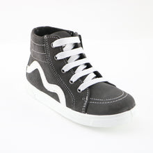 Grey Leather Sneakers (SS-7128) - SIMPLY SHOES HONG KONG