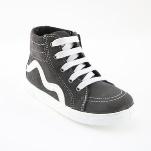 Grey Leather Sneakers (SS-7128)