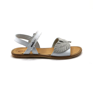 White Leather Girls Sandals (SS-7115) - SIMPLY SHOES HONG KONG
