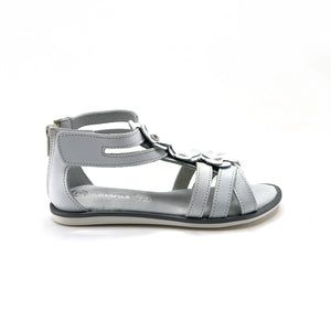 White Leather Girls Sandals (SS-7116) - SIMPLY SHOES HONG KONG
