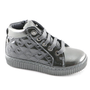 Silver Leather Girls sneakers (SS-7133)