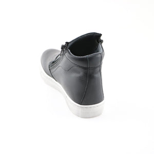 Black Leather  Boot (SS-7134)