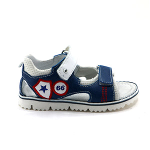 Blue Leather Boys Sandals (SS-8050) - SIMPLY SHOES HONG KONG