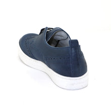 Blue Leather Boys Shoes (SS-8051)