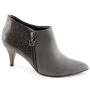 Grey Micro with snake Ankle Boot (745.055) - SIMPLY SHOES HONG KONG