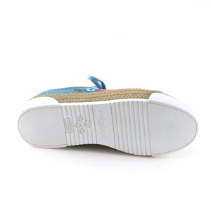 Lt. Denim Casual Shoe with Embroidery (978.002) - SIMPLY SHOES HONG KONG