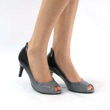 Grey Peep Toe Pumps for Women (362.046)