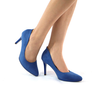 Blue Pumps for Women (722.030) - SIMPLY SHOES HONG KONG