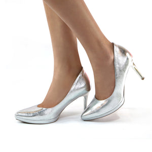 Silver Pumps for Women  (722.030)