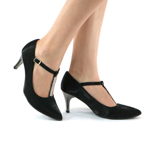 Black Pumps for Women (745.024) - SIMPLY SHOES HONG KONG