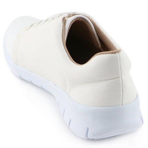 White Casual Sneakers (970.013) - SIMPLY SHOES HONG KONG