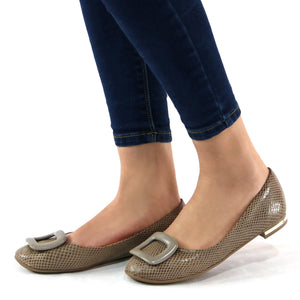 Taupe Shoes for Women (100.199) - SIMPLY SHOES HONG KONG