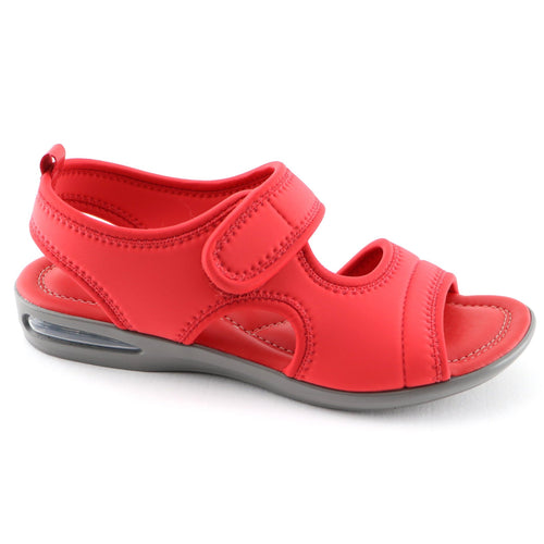 Red Flat Sandals (517.015) - SIMPLY SHOES HONG KONG