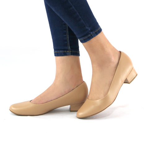 Taupe Pumps for Women (140.071)