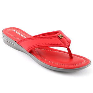Red Flat Sandals (517.012) - SIMPLY SHOES HONG KONG